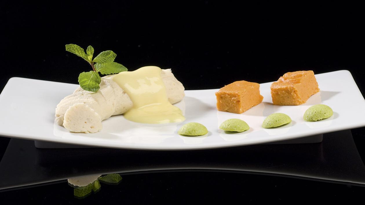Filet d'aile de Raie Roulé Sauce Paloise (Texture modifié) – Recette