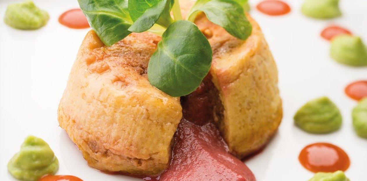 Fondant de chou-fleur au curry cœur coulant à la betterave – Recette