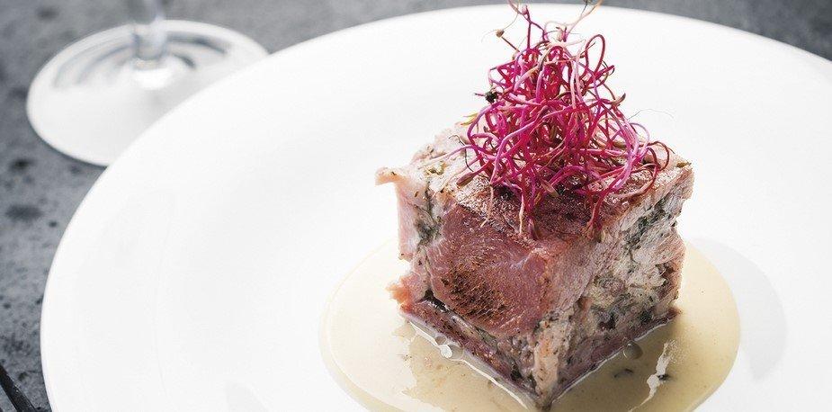 Jambon de Reims, sauce à la moutarde et champagne – Recette