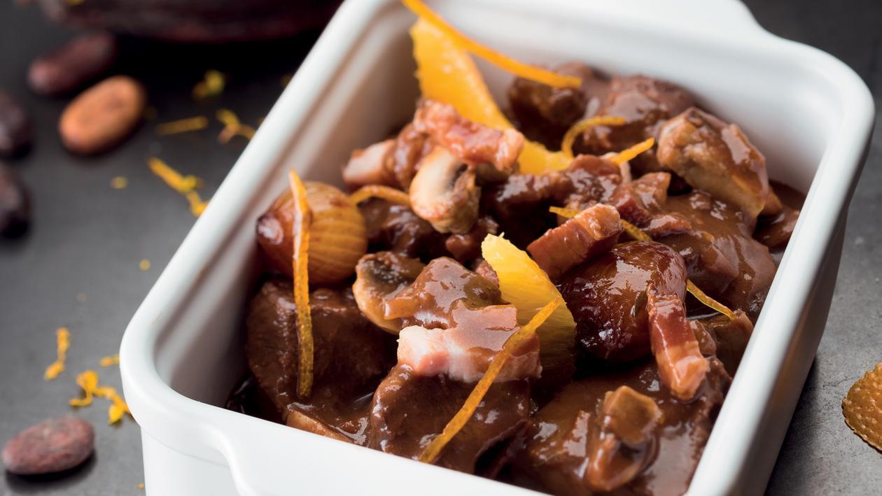 Le Bourguignon sauce chocolat agrumes – Recette