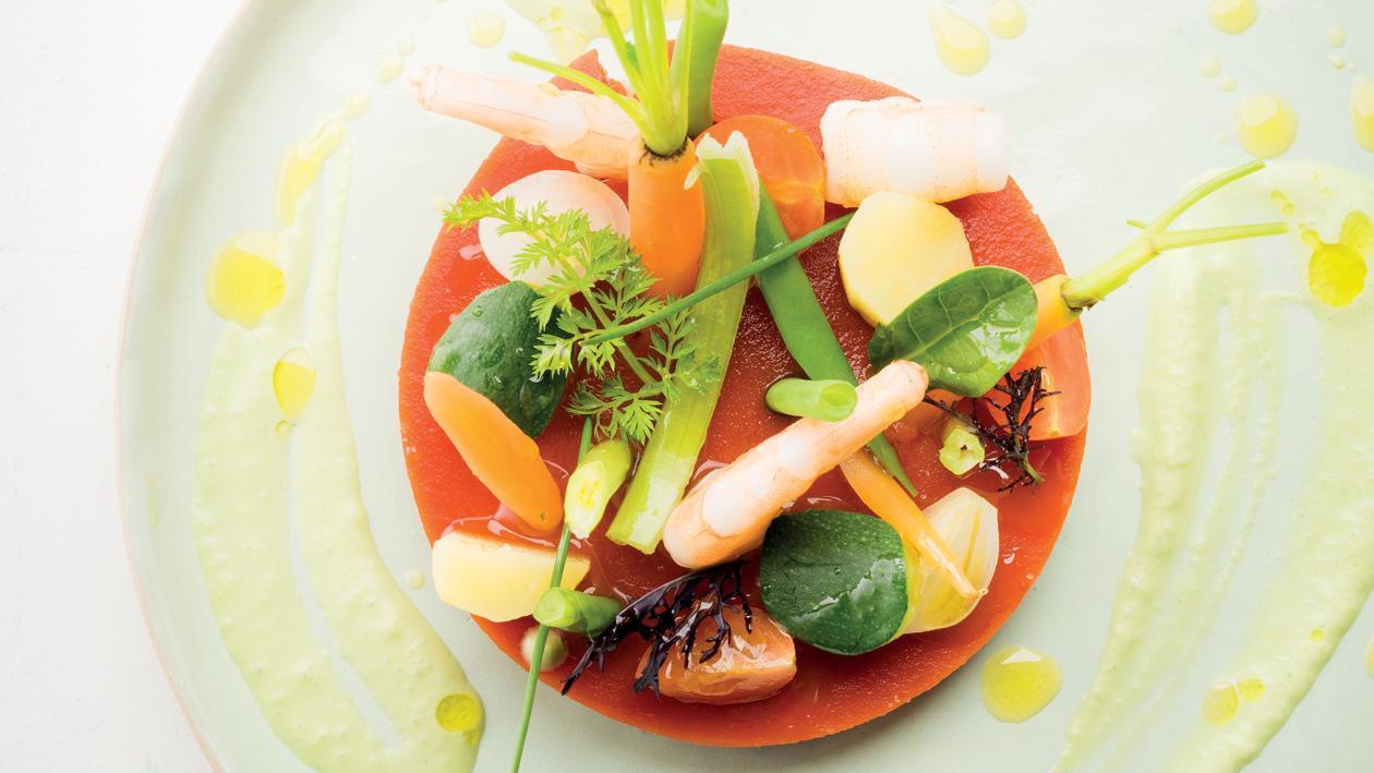 Minestrone de crevettes – Recette
