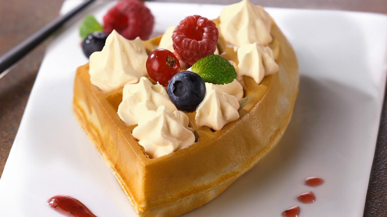 Mini gaufre vanille et fruits frais – Recette