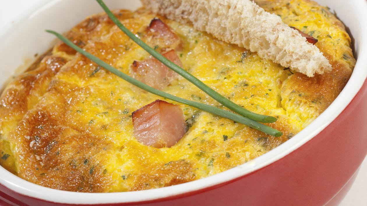 Mousse d'oeuf au four et au jambon persillé – Recette