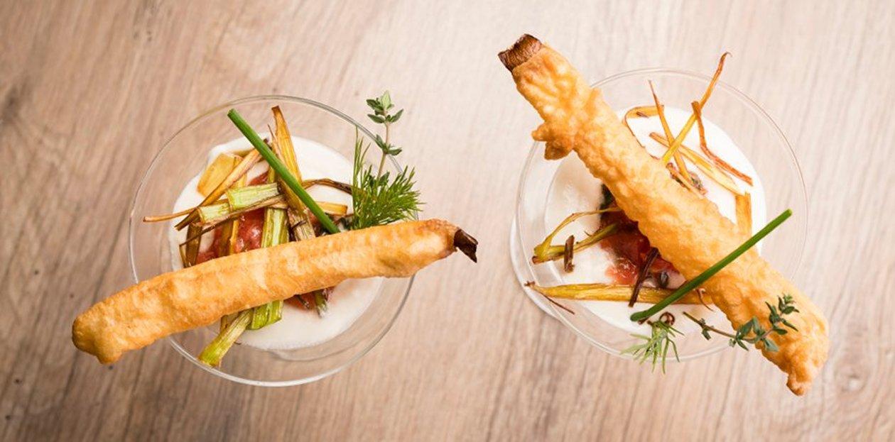 Mousseline de blanc de poireaux et son tempura de poireaux – Recette