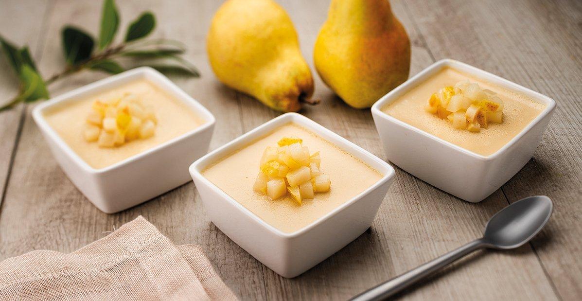 Pot de Crème au Caramel Bio et Poires Pôelées – Recette