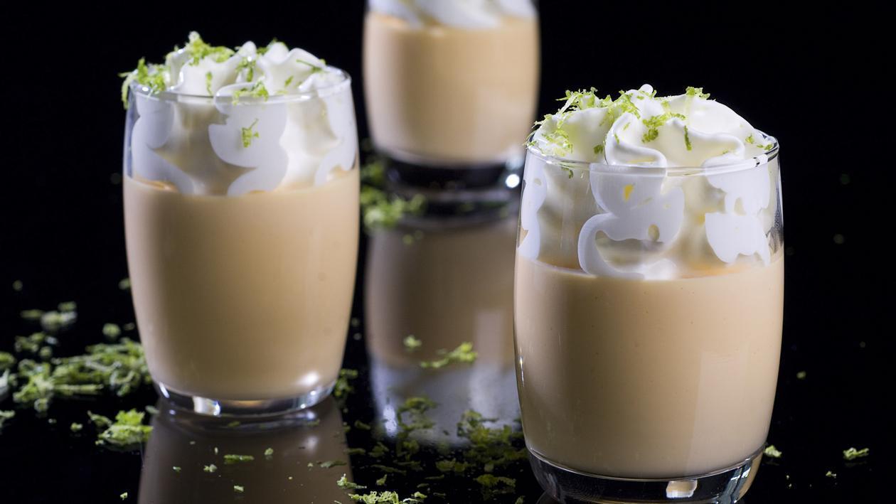 Pot de crème Mangue-Abricot Cappuccino citron vert – Recette