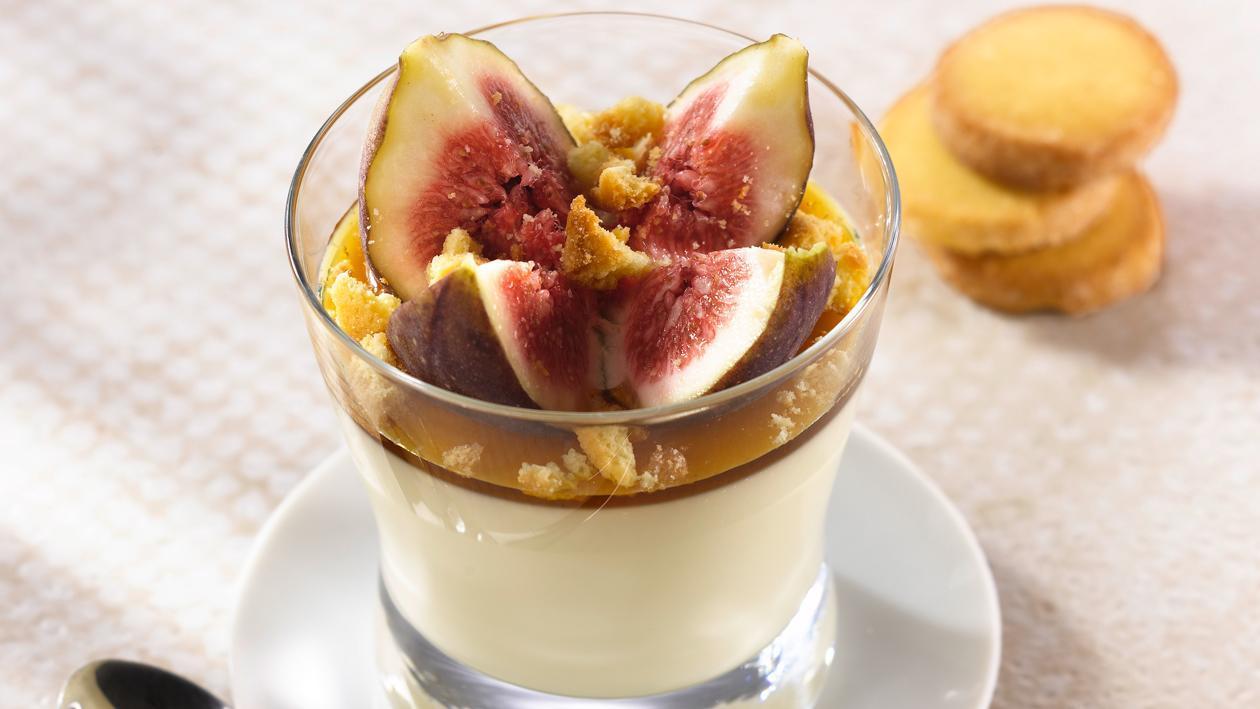 Sables de Nancay en panna cotta, figues et miel de Sologne – Recette