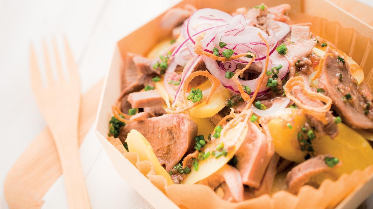 Salade de langue de veau et rattes du Touquet à l'échalote – Recette