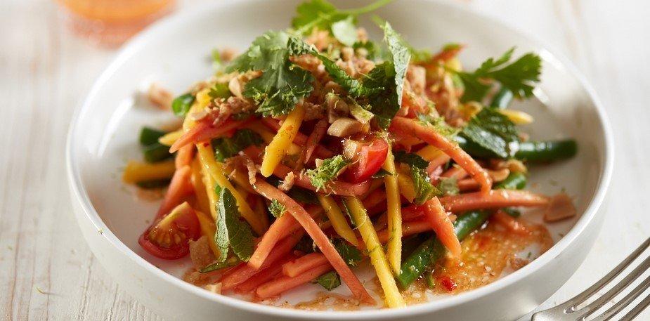 Salade de papaye verte, haricots verts et citron – Recette