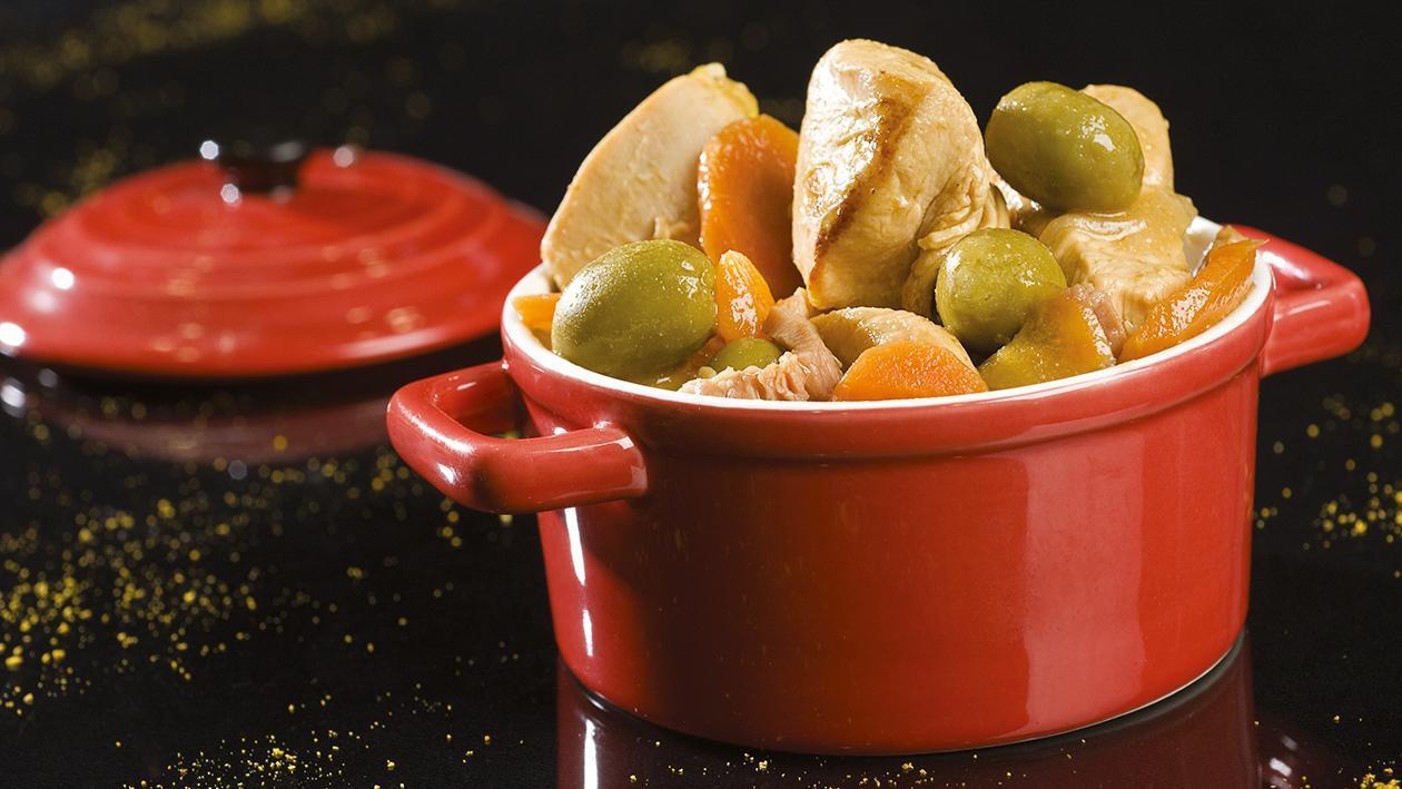 Sauté de Dinde aux olives vertes et carottes  – Recette