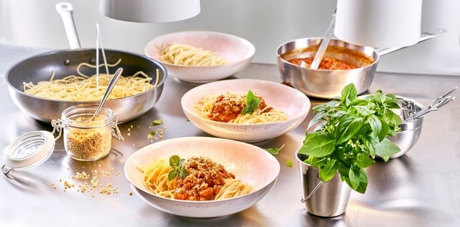 Spaghettis au haché végétal – Recette