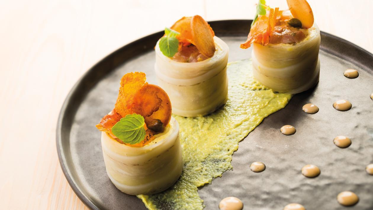 Tartare de dorade et radis noir, comme un maki, sauce soja – Recette