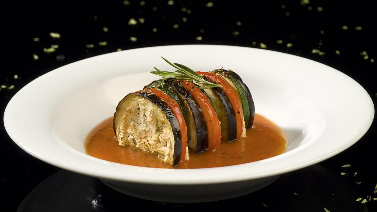 Tian Provençal & Velouté de tomate poivron – Recette