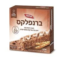 ברנפלקס חטיף דגנים עם זיגוג עדין של קרם בטעם יוגורט תלמה - 6 יח' -
