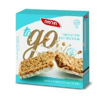חטיף דגנים אפוי עם קרם בטעם יוגורט to go תלמה מארז 6 יח' 23 גרם -