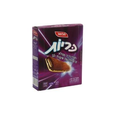 חטיף כריות קרם חלב עם שוקולד לבן תלמה שקית 150 גרם -