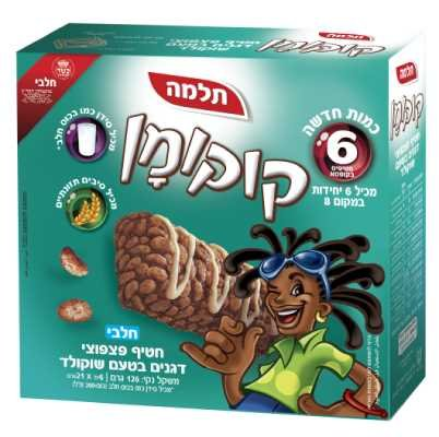 חטיף קוקומן פצפוצים תלמה מאגדת 6 יח' -