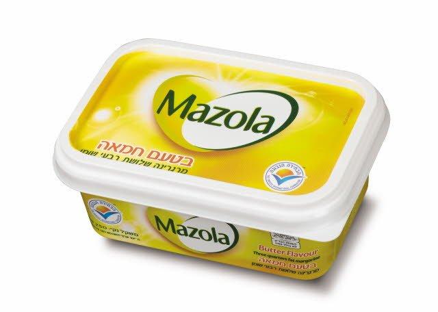 מרגרינה בטעם חמאה שלושת רבעי שומן מזולה גביע 250 גרם -