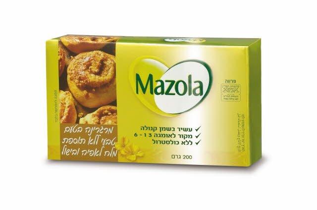 מרגרינה בטעם טבעי ללא תוספת מלח מזולה 200 גרם -