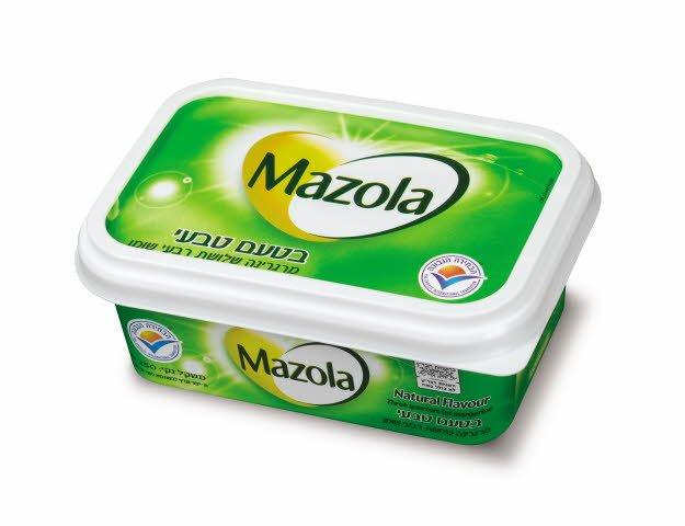 מרגרינה בטעם טבעי שלושת רבעי שומן מזולה גביע 250 גרם -