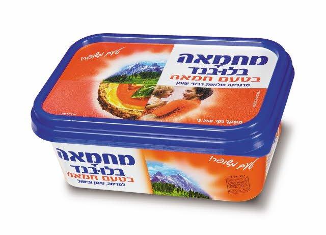 מרגרינה מחמאה בטעם חמאה בלו-בנד גביע 250 גרם -