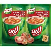 נמס בכוס מרק עגבניות עם קרוטונים קנור 31 גרם -