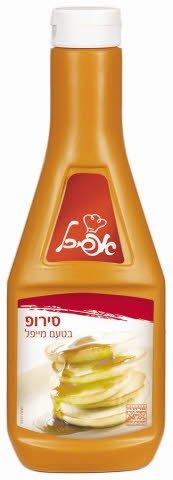 """סירופ בטעם מייפל כשל""""פ אפיכל בקבוק לחיץ 580 גרם -"""