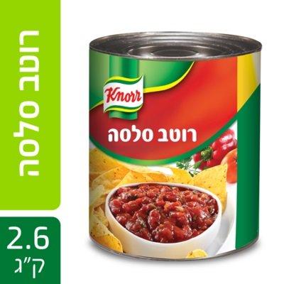 """רוטב סלסה עגבניות עשיר קנור פחית 2.6 ק""""ג"""
