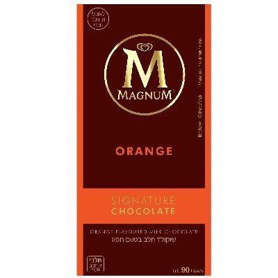 שוקולד חלב בטעם תפוז מגנום 90 גרם
