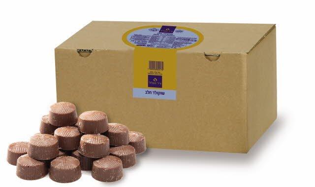 """שוקולד חלב 29% מוצקי קקאו כשל""""פ ורד הגליל קרטון 5 ק""""ג -"""