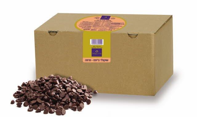 """שוקולד צ'יפס 44% מוצקים ורד הגליל 5 ק""""ג -"""