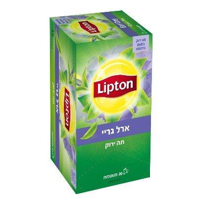 תה ירוק ארל גריי בטעם ברגמוט ליפטון 20 מעטפות -