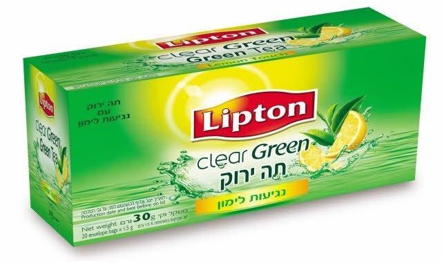 תה ירוק עם לימון ליפטון