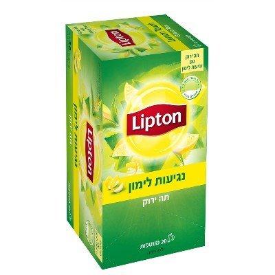 תה ירוק עם לימון ליפטון -