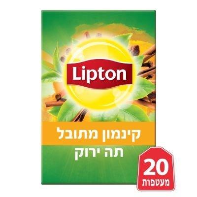תה ירוק קינמון מתובל ליפטון 20 מעטפות -