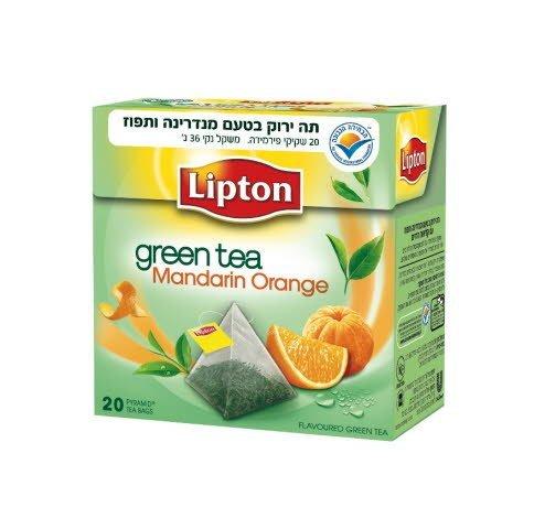 תה ירוק תפוז מנדרין ליפטון