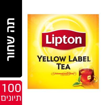 תה שחור ילו לייבל ללא מעטפה ליפטון 100 יחידות -