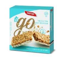 חטיף דגנים אפוי עם קרם בטעם יוגורט to go תלמה מארז 6 יח' 23 גרם