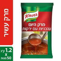 """מרק היום - מרק עגבניות עם ירקות קנור 1.2 ק""""ג"""