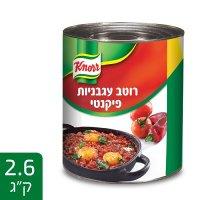 """רוטב עגבניות פיקנטי קנור פחית 2.6 ק""""ג"""
