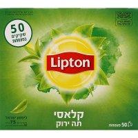 תה ירוק קלאסי ליפטון קופסה 50 מעטפות