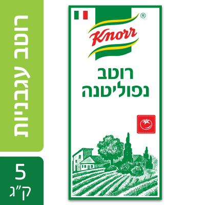 """רוטב עגבניות נפוליטנה קנור פאוץ' 5 ק""""ג"""