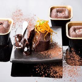 סופלה שוקולד עם קוביית הפתעה