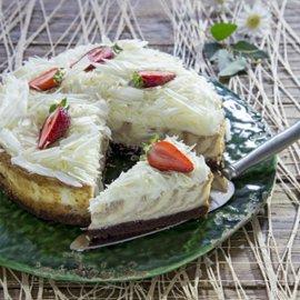 עוגת גבינה עם נוגט