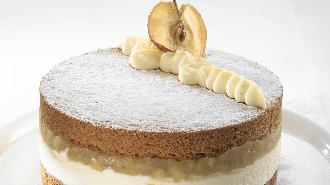 עוגת תפוחים על שלג – מתכון