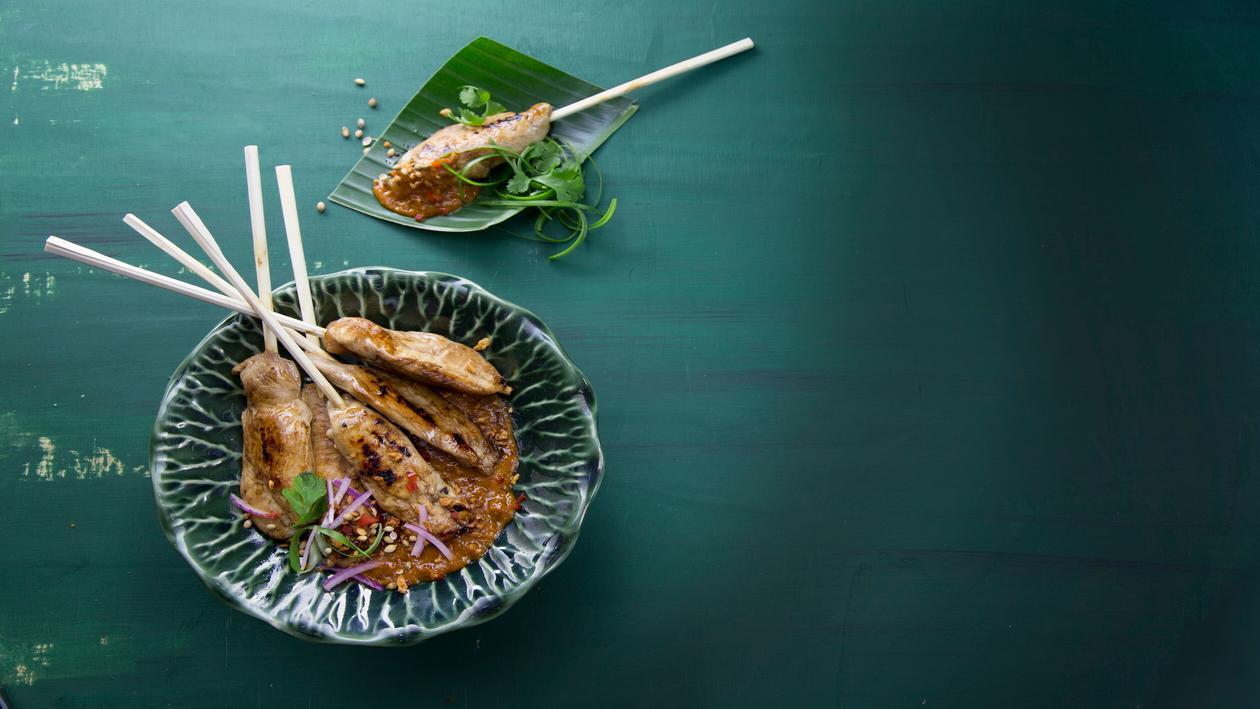 שיפודי עוף סאטה – פוקי בול מתכון להכנת קערת פוקי, מזון רחוב של הוואי אצלכם בצלחת > מתכוני השראה לשפים