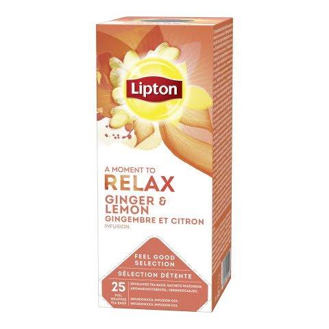 Lipton Aromatizirani biljno-voćni čaj s đumbirom