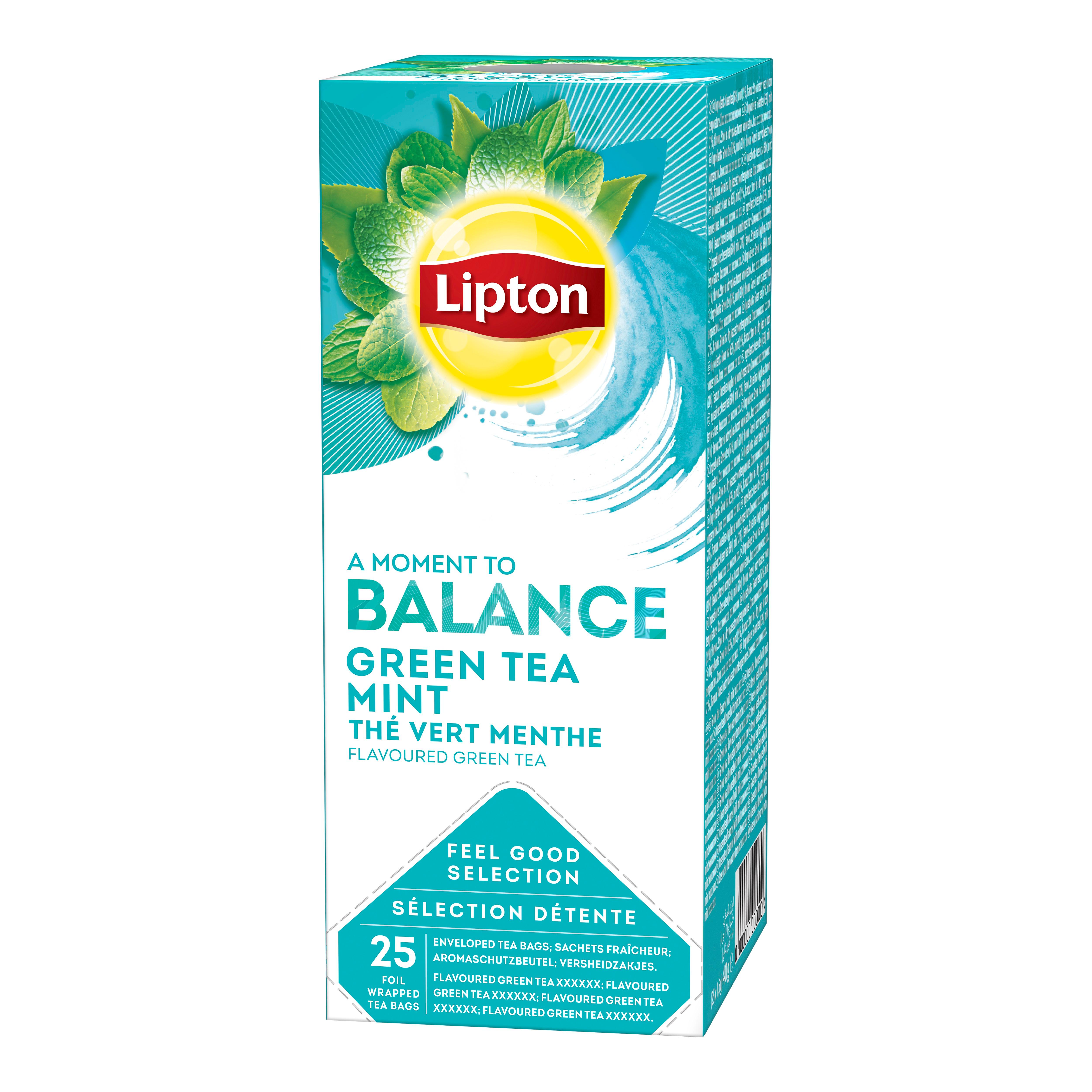 Lipton Aromatizirani zeleni čaj s mentom 25/1 - Na raspolaganju su različiti čajevi Lipton: biljni, crni, zeleni i voćni.