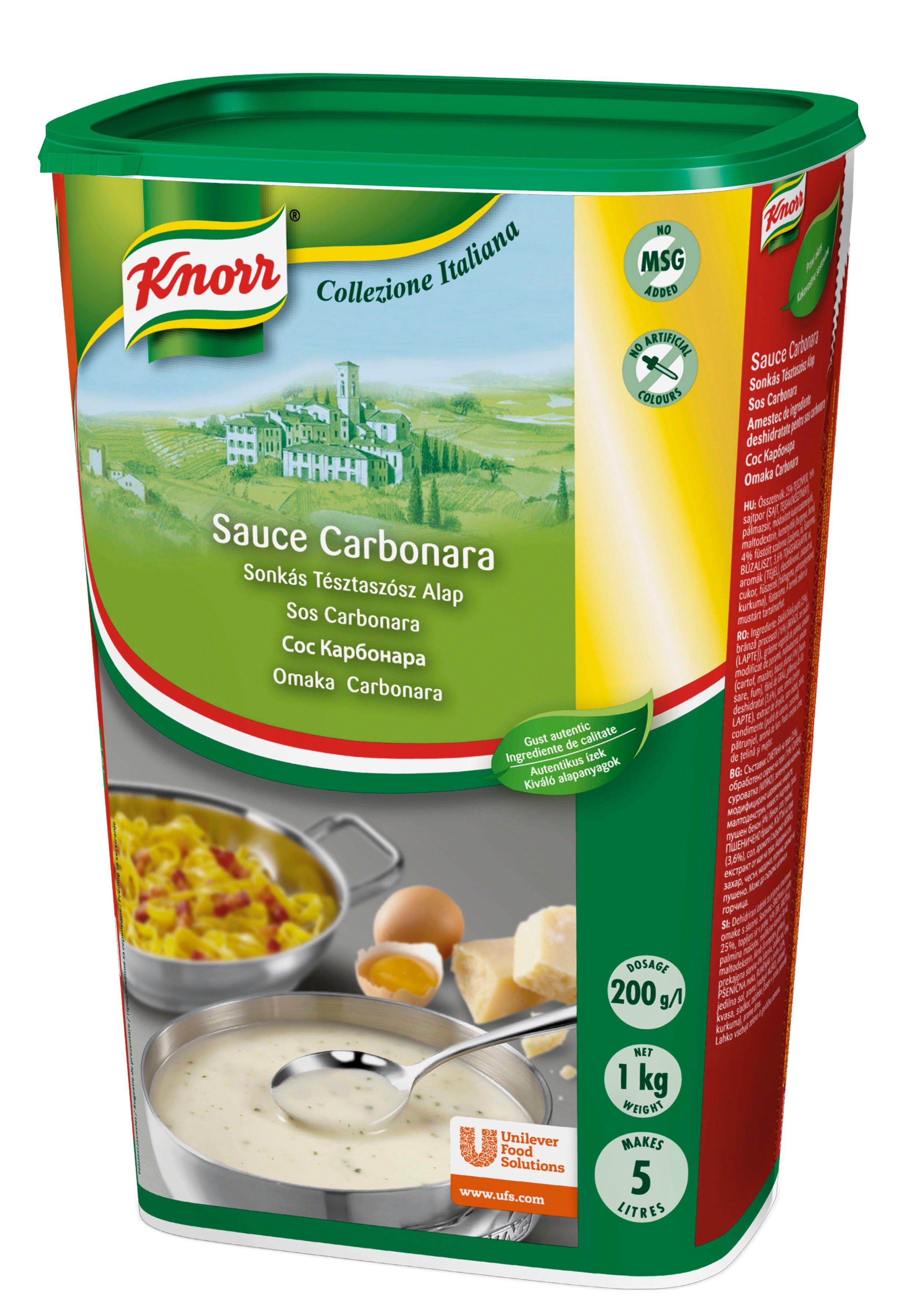 KNORR Collezione Italiana Sauce Carbonara (Sonkás tésztaszósz alap) 1kg -