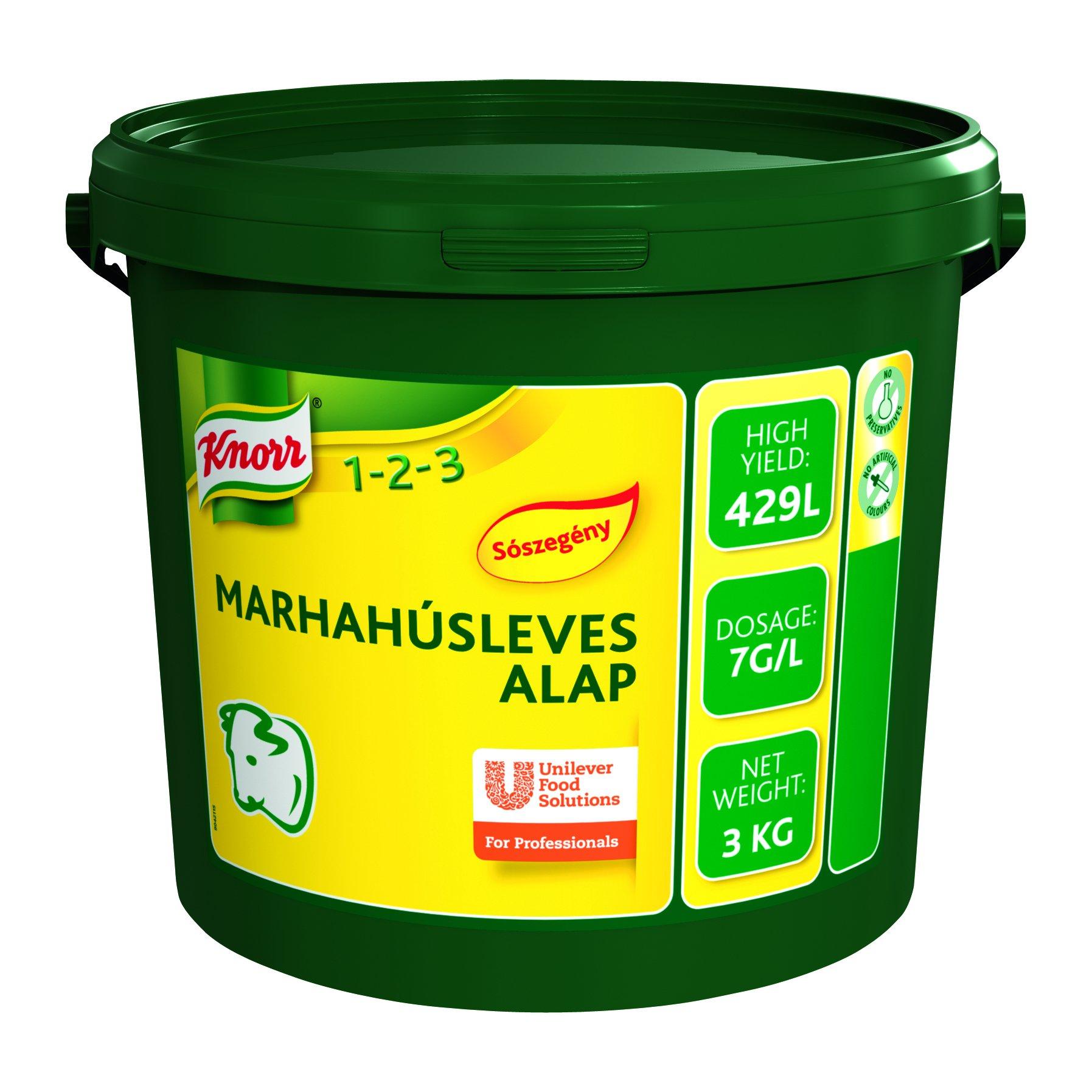 KNORR Marhahúsleves alap - Sószegény 3kg -